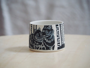 Black Wolf Mini Planter / Cup I