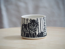 Load image into Gallery viewer, Black Wolf Mini Planter / Cup II