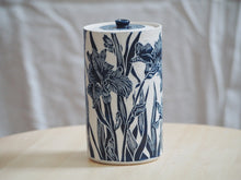 Load image into Gallery viewer, Indigo Iris Lidded Jar