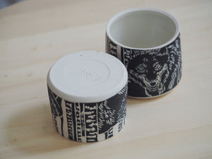 Black Wolf Mini Planter / Cup II
