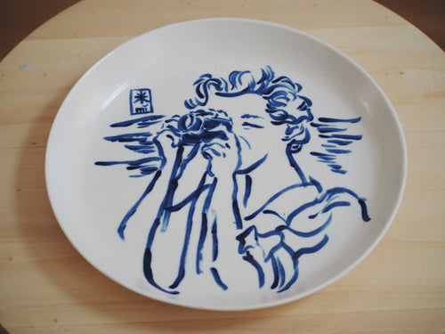 Fierce Girls Big Porcelain Plate ⌀25cm (Gerda Taro)