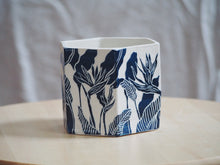 Load image into Gallery viewer, Indigo Bird of Paradise Hexagonal Planter