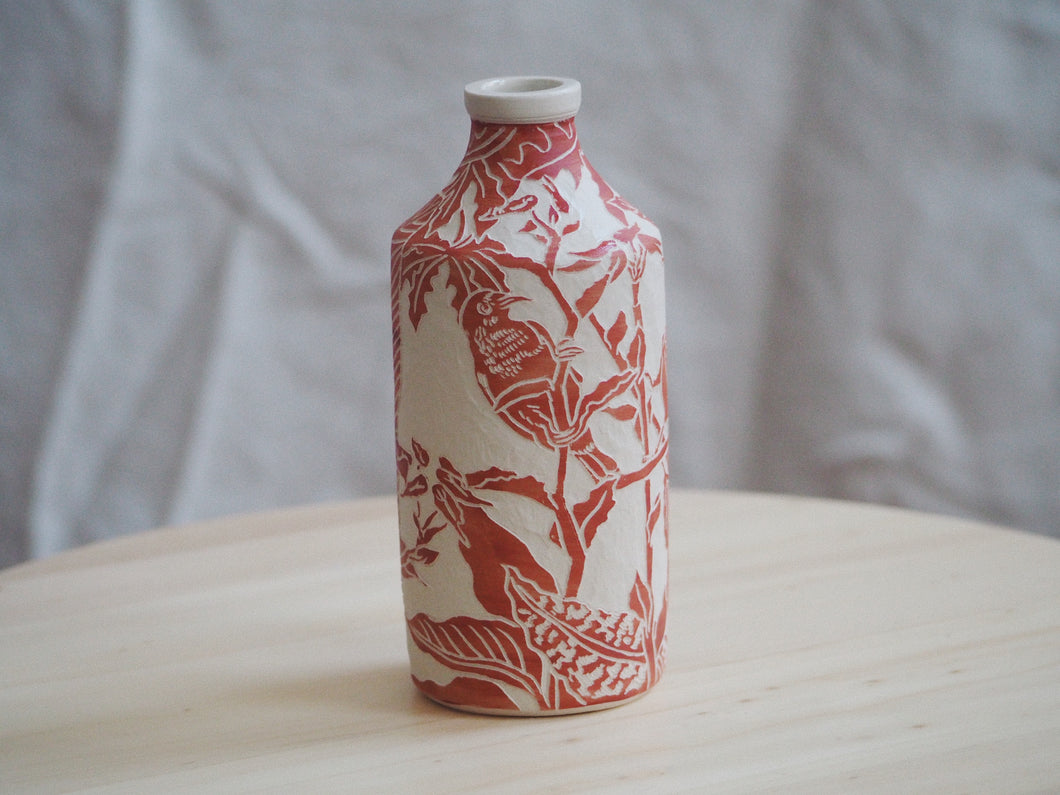 Flora & Fauna Vermillion Bird Bottle