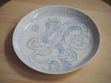 Load image into Gallery viewer, Bestiary Medium Porcelain Plate ⌀21,5cm (Amphisbæna)