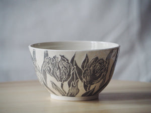 Grey Parrot Tulip Bowl