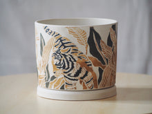 Load image into Gallery viewer, Tropical Tiger Planter with Tray