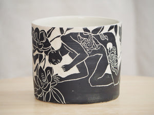 Tattooed Man & Magnolias Planter