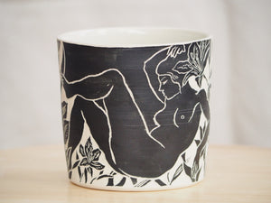 Nude Woman & Lilies Planter