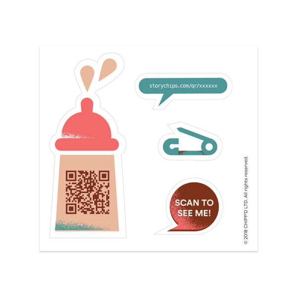 Baby Bottle Single Sticker