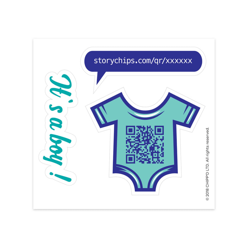 Baby Boy Single Sticker