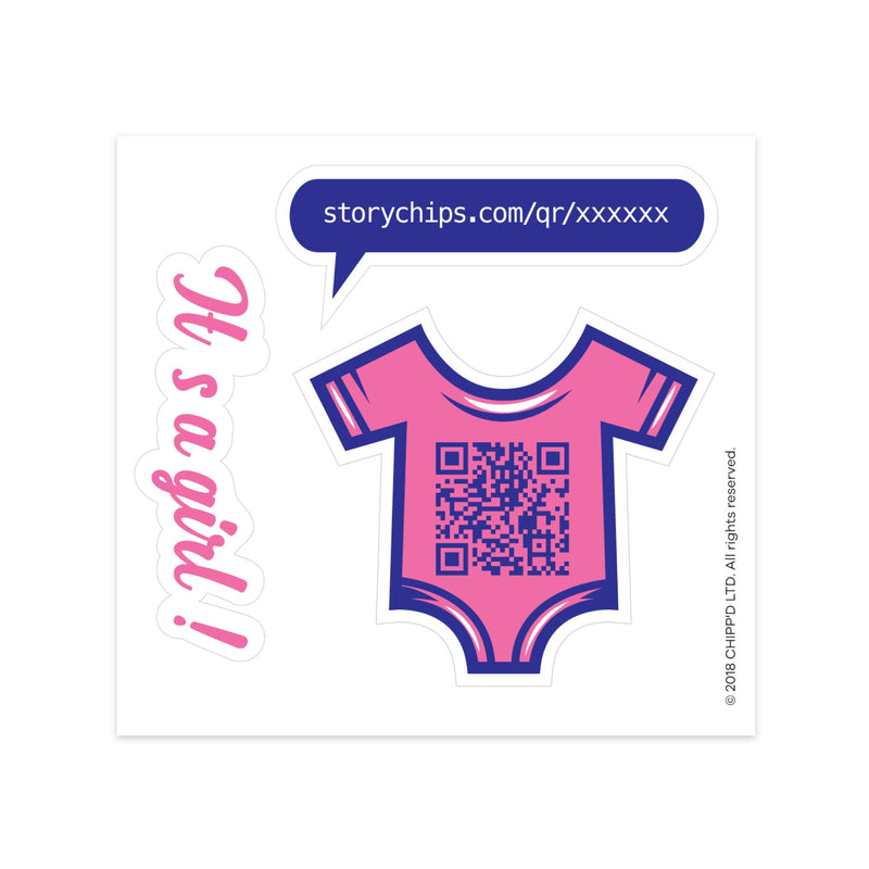 Baby Girl Single Sticker