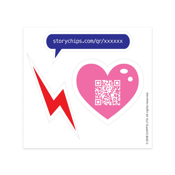 BFF Heart Single Sticker