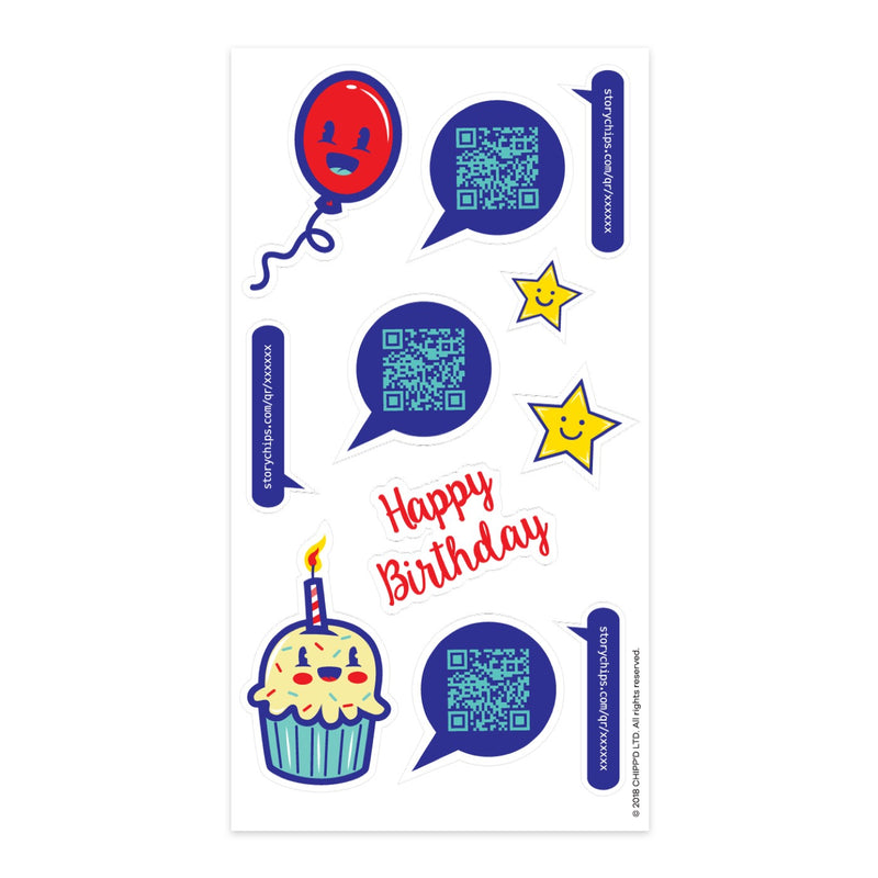Birthday Cupcake Stickers