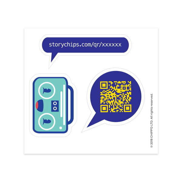 Boombox Single Sticker