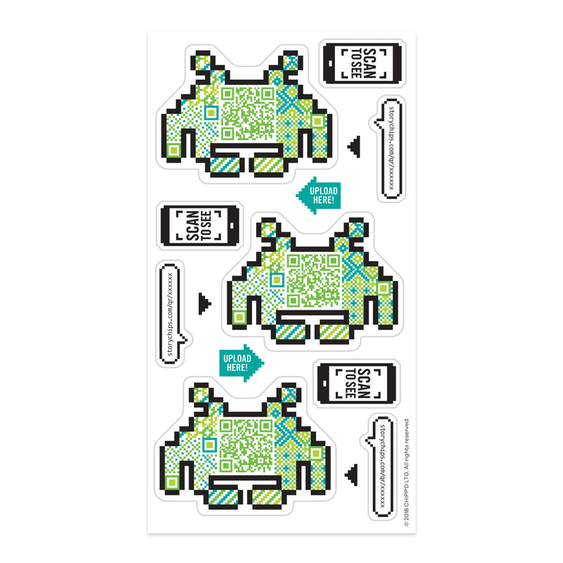 Retro Game Stickers