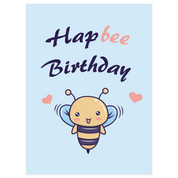 Hapbee Birthday Card