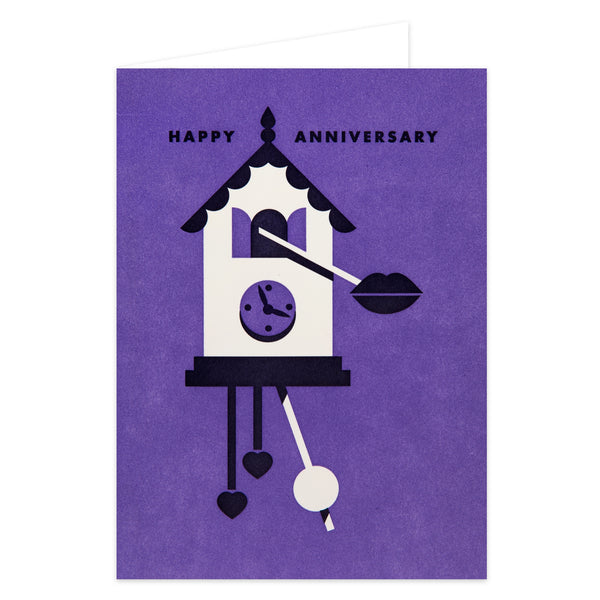 Anniversary Clock Card