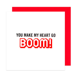 Make My Heart Go Boom! Card