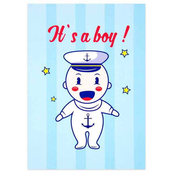 It's a Boy! Sailor Card
