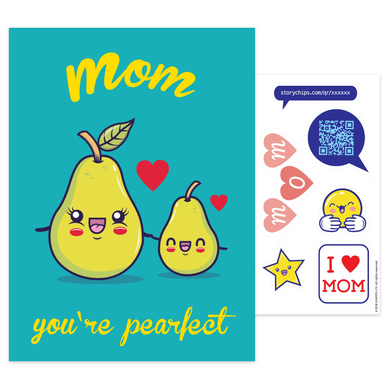 Mom You're Pearfect Card
