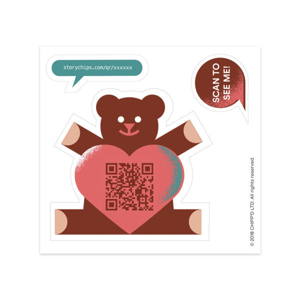 Teddy Bear Single Sticker