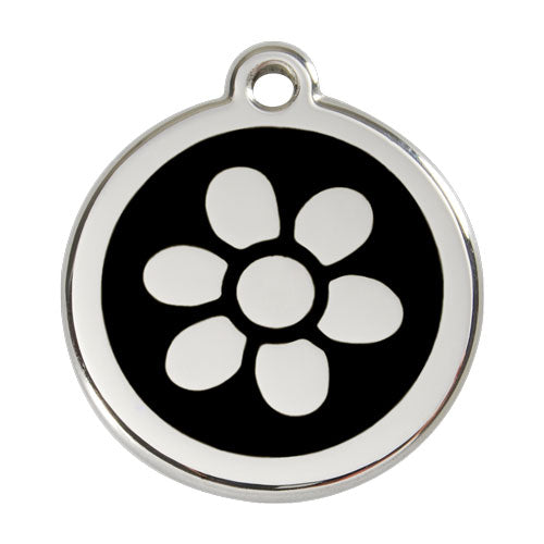 Red Dingo Stainless Steel & Enamel Flower Dog Tag, Animals & Pet Supplies by Dogs Dogs Dogs