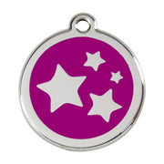 Red Dingo Stainless Steel & Enamel Star Tag