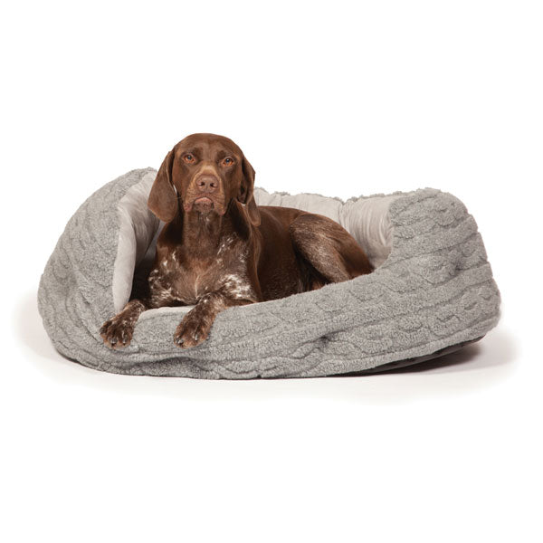 Danish Design Pewter Bobble Deluxe Slumber Bed, Dog Supplies by Dogs Dogs Dogs