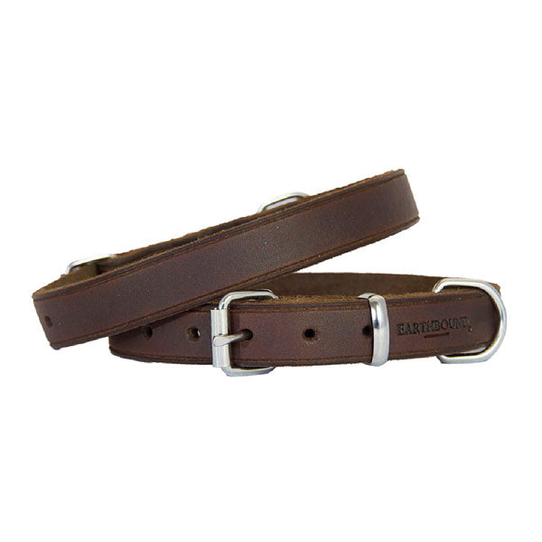 Earthbound Soft Country Brown Leather Collar