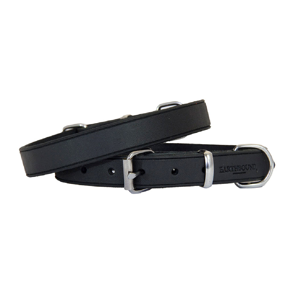 Earthbound Soft Country Black Leather Collar, Pet Collars & Harnesses by Dogs Dogs Dogs