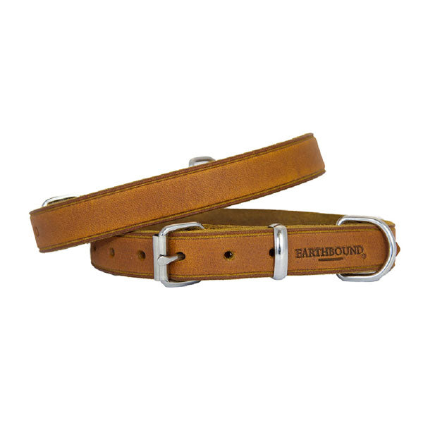 Earthbound Soft Country Tan Leather Collar, Pet Collars & Harnesses by Dogs Dogs Dogs