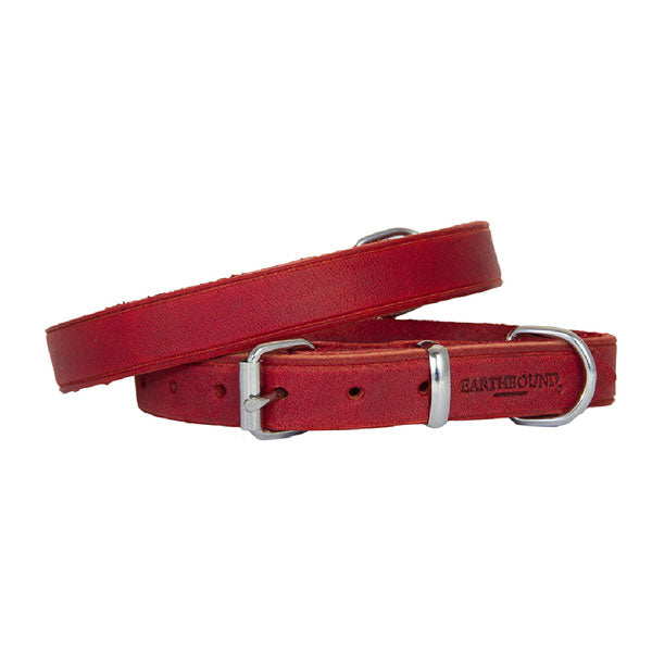 Earthbound Soft Country Red Leather Collar