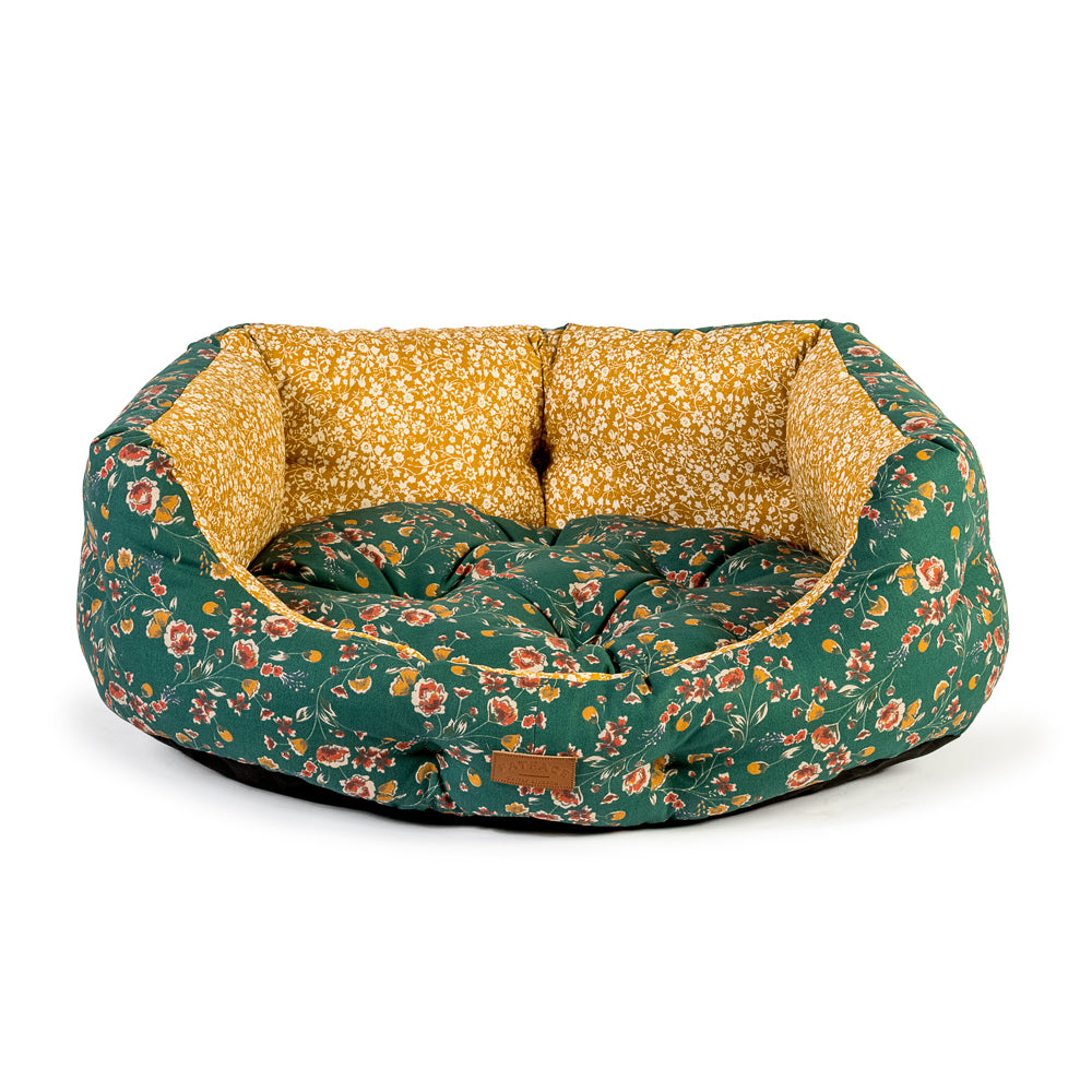FatFace Meadow Floral Deluxe Slumber Bed, Dog Supplies by Dogs Dogs Dogs