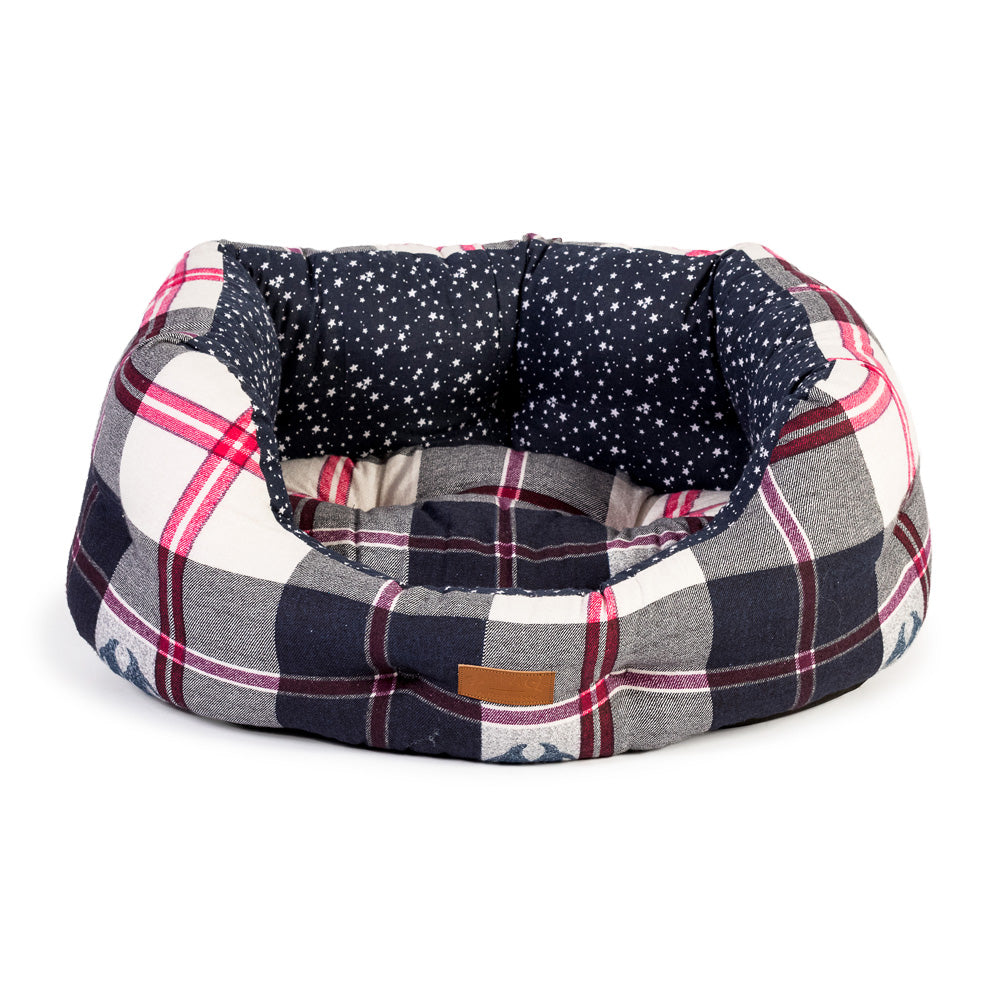 FatFace Penguin Check Deluxe Slumber Bed, Dog Beds by Dogs Dogs Dogs