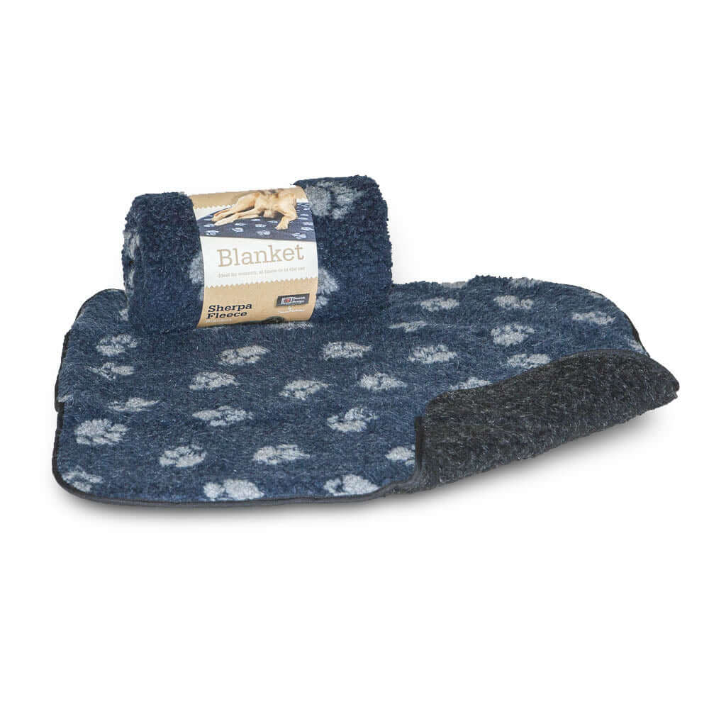 Danish Design Paw Print Fleece Dog Blanket, Dog Beds by Dogs Dogs Dogs