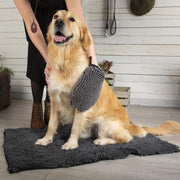 Noodle Dry Mitt - Grey Dog Grooming petslovescruffs
