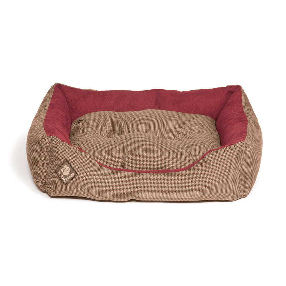 Danish Design Heritage Houndstooth Snuggle Bed, Dog Beds by Dogs Dogs Dogs