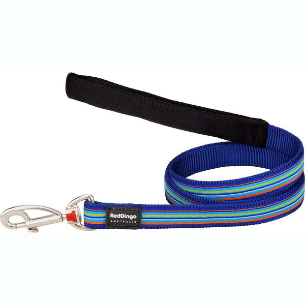 Red Dingo Striped Dog Lead
