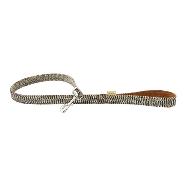 Earthbound Luxury Herringbone Tweed Lead with Suede Backing, Pet Leads by Dogs Dogs Dogs