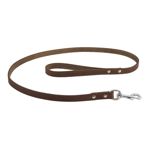 Earthbound Soft Country Brown Leather Lead, Pet Leads by Dogs Dogs Dogs