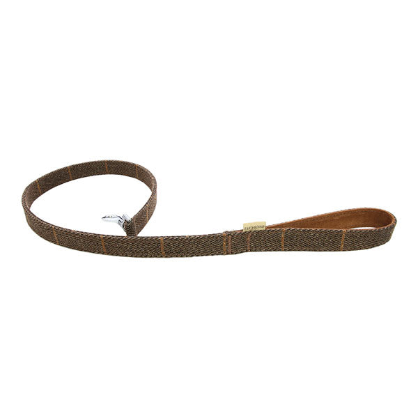 Earthbound Luxury Brown Tweed Lead with Suede Backing, Pet Leads by Dogs Dogs Dogs