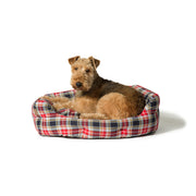 Lumberjack Red Grey Deluxe Slumber Bed with Dog