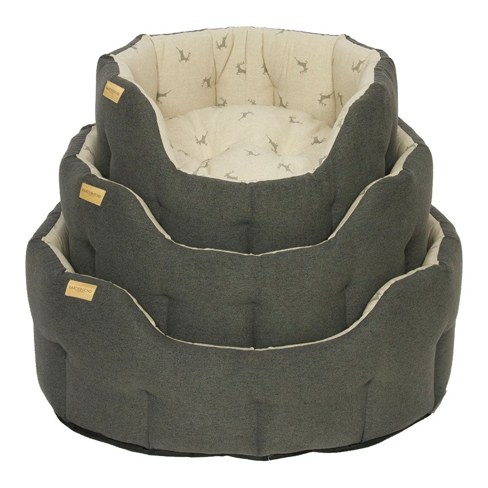 Earthbound Luxury Brushed Cotton Stag Bed, Pet Bed Accessories by Dogs Dogs Dogs