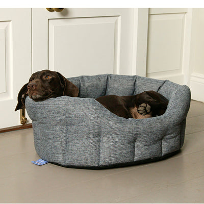 Pets and Leisure Luxury Heavy Duty Basketweave Oval Bed