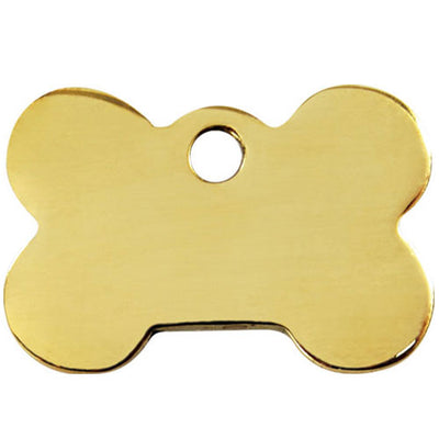 Red Dingo Brass Bone Dog Tag