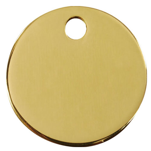 Red Dingo Brass Circle Dog Tag by Dogs Dogs Dogs