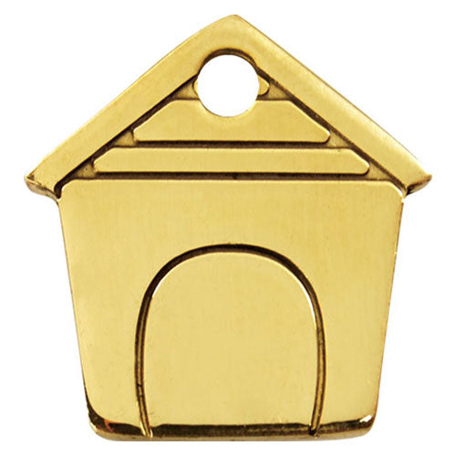 Red Dingo Brass Dog House Dog Tag, Pet ID Tags by Dogs Dogs Dogs