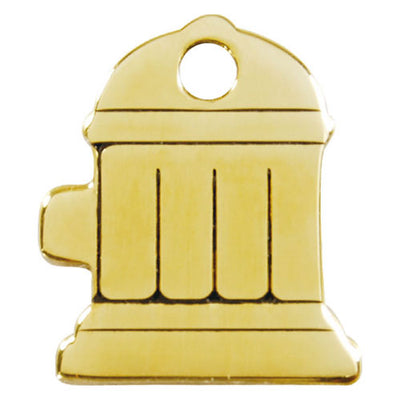 Red Dingo Brass Fire Hydrant Dog Tag
