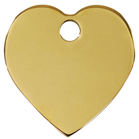 Red Dingo Brass Heart Dog Tag