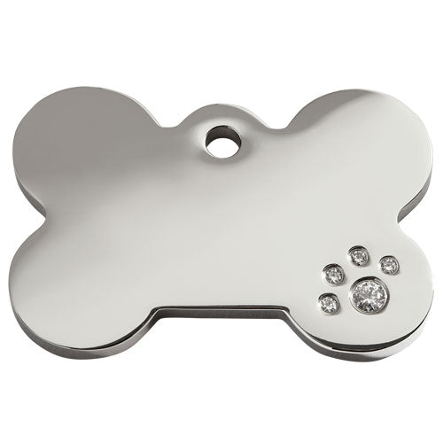 Red Dingo Diamante Bone Dog Tag, Pet ID Tags by Dogs Dogs Dogs